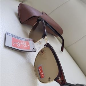 Authentic sunglasses clubmaster rayban rb3016